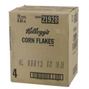 Kelloggs Corn Flakes Cereal, 0.81 Ounce -- 70 per case.