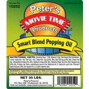 Peters Movie Time Smart Blend Popping Oil, 35 Pound -- 1 each.