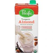 Pacific Foods Organic Vanilla Unsweetened Almond Beverage, 32 Fluid Ounce -- 12 per case