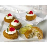 New Wave Kaptains Ketch Breaded Deviled Crab Bite, 0.7 Ounce -- 115 per case.