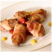 Manchester Farms Bacon Wrapped Filet Marinated Boneless Quail Breast, 2.5 Pound -- 2 per case.
