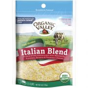 Organic Valley Organic Italian Blend Shredded 4 Cheese, 6 Ounce -- 12 per case