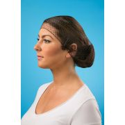 Dark Brown Extra Strength Large Hairnet -- 10 case -- 144 count.
