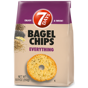 7 Days Everything Bagel Chips, 8.81 Ounce -- 12 per case.