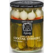 Sable and Rosenfeld Garlic and Dill Tipsy Cocktail Stirrers, 16 Ounce -- 6 per case