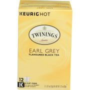 Twinings Earl Grey Black Tea K Cup Pods, 12 count per pack -- 6 per case