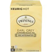 Twinings Earl Grey Flavoured Decaffeinated Black Tea, 12 count per pack -- 6 per case