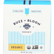 Buzz and Bloom Organic Single Serve Honey, 5 Ounce -- 12 per case