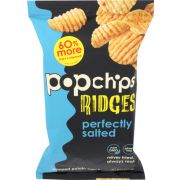 Popchips Ridges Perfectly Salted Popped Potato Chips, 5 Ounce -- 12 per case
