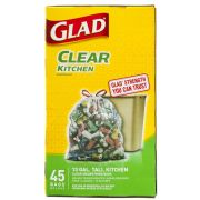 Glad Clear Recycling Drawstring Tall Kitchen Bag -- 180 per case