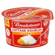 Breakstones Cottage Doubles Peach Cottage Cheese, 4.7 Ounce -- 12 per case.