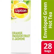 Lipton Hot Tea Bags Green with Orange, Passion Fruit and Jasmine, 28 count -- 6 per case