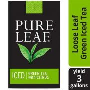 Pure Leaf Iced Loose Tea Pouch Green with Citrus, 3 gallon -- 24 per case