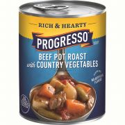Progresso Rich and Hearty Beef Pot Roast with Country Vegetable Soup, 18.5 Ounce -- 12 per case.