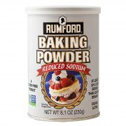 Rumford Reduced Sodium Baking Powder, 8.1 Ounce -- 12 per case.