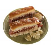 J and J Snack Texas Twist Gourmet Soft Pretzel Hot Dog Bun, 3.2 Ounce -- 50 per case.