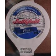 Smithfield Plain Cream Cheese, 0.75 Ounce -- 100 per case.