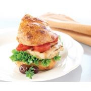 Kings Delight Chicken Breast Patty with Grill Marks, 5 Pound -- 4 per case.