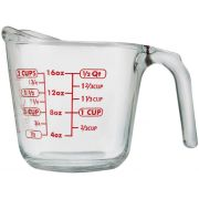 Anchor Hocking Open Handle Measuring Cup - Red Lettering, 16 Ounce -- 4 per case