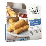 Dr Praegers Lightly Breaded Fish Stick, 10.2 Ounce -- 6 per case