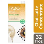 Tazo Tea Concentrate Decaf Chai Latte 1:1 32 Ounces – Pack of 6