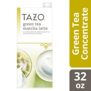 Tazo Tea Concentrate Green Tea Matcha Latte 1:1 32 Ounces – Pack of 6