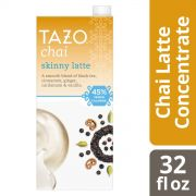 Tazo Tea Concentrate Skinny Chai Latte 1:1 32 ounces – Pack of 6