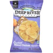 Deep River Sweet Maui Onion Kettle Cooked Potato Chips, 8 Ounce -- 12 per case