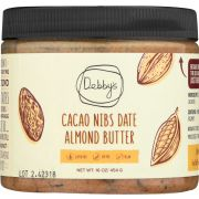 Debbys Caco Nibs Date Almond Butter, 16 Ounce -- 8 per case