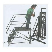 Ballymore Tough Welded Steel Single Entry Mobile Work Platform - 4 Step, 36 x 36 x 40 inch -- 1 each.