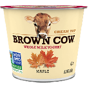 Brown Cow West Cream Top Whole Milk Maple Yogurt, 32 Ounce -- 6 per case.
