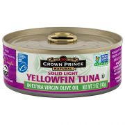 Crown Prince Natural Solid Light Yellowfin Tuna in Extra Virgin Olive Oil, 5 Ounce -- 12 per case.