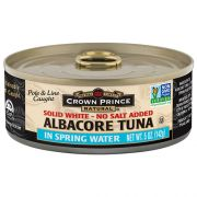Crown Prince Natural Solid White Albacore Tuna - No Salt Added, 5 Ounce -- 12 per case.