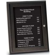 United Visual Magnetic Header and 16 Strip Directory Board, 18 x 24 inch, Namestrip: Black -- 1 each.