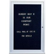 Indoor Enclosed Aluminum Frame Letterboard.3/4 inch Helvetica letter and number set included. Size: 24 inch X 36 inch -- 1 set each.