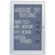 Fabric - Black (BK) Indoor Enclosed Traditional Frame Easy Tack Board with Header and 2 Door. Size: 42 inch X 32 inch -- 1 each.