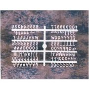 Helvetica Letter Sprue Set In White with 145 Characters. Size: 3 inch -- 1 set each.