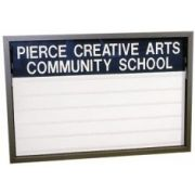 Frame Finish - Gold Heavy-Duty Outdoor Double Face Fully Illuminated Readerboard. Size: 85 1/4 inch X 60 inch X 13 1/2 inch -- 1 each.