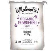 Wholesome Sweeteners Organic Powdered Sugar, 50 Pound -- 1 each.