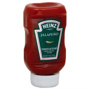 Heinz Tomato Ketchup Blended with Real Jalapeno, 14 Ounce -- 6 per case.