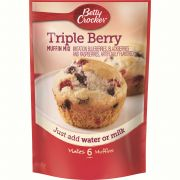 Betty Crocker Triple Berry Muffin Mix, 6.5 Ounce -- 9 per case.