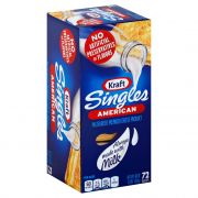 Kraft American Singles Processed Cheese Slices, 3 Pound -- 12 per case.