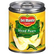 Del Monte Sliced Pears in Heavy Syrup, 8.5 Ounce Can -- 12 per case.