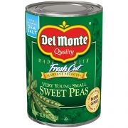 Del Monte Young Small Sweet Peas, 15.25 Ounce -- 12 per case.