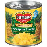 Delmonte Canned Chunk Pineapple in Juice, 15.25 Ounce -- 12 per case.