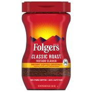 Folgers Classic Roast Caffeine Instant Coffee Crystals, 16 Ounce -- 288 per case