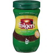 Folgers Classic Decaffeinated Instant Coffee, 8 Ounce -- 6 per case.