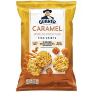 Quaker Caramel Popped Rice Crisps, 3.52 Ounce -- 8 per case.