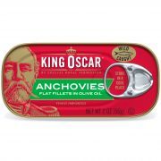 King Oscar Anchovies, 2 Ounce -- 18 per case.