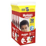 Huggies Size 3 Snug and Dry Diapers, 3 count per pack -- 10 per case.